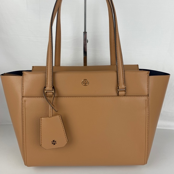 376862d3178 New Tory Burch Small Parker Leather Tote 37744-243.  M 5c4a6841df03070cd3c04ac1